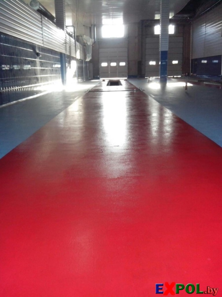 Наливной пол в гараже